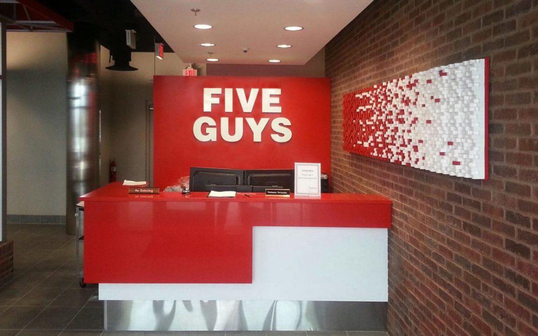 Five Guys – Fry Wall Wood Panel