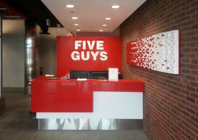 Five Guys – Fry Wall Wood Panel